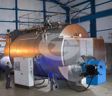 1.4MW(1400KW) Fire tube hot water boiler image