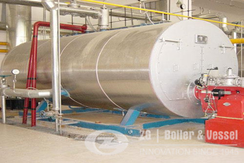 China gas fire tube boiler factory image