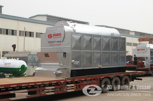 DZL packaged chain grate coal steam boiler image