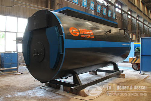 WNS horizontal gas oil fired steam boiler image