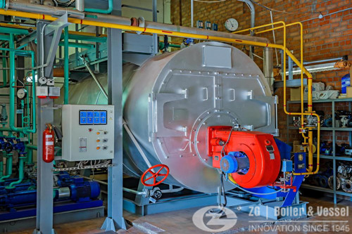 Industrial Electricity run steam boiler image