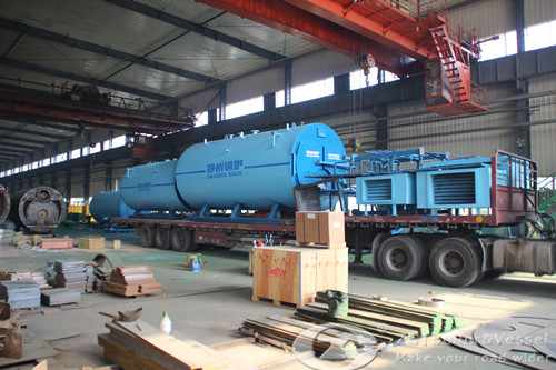 WNS gas fired boiler export to Indonesia