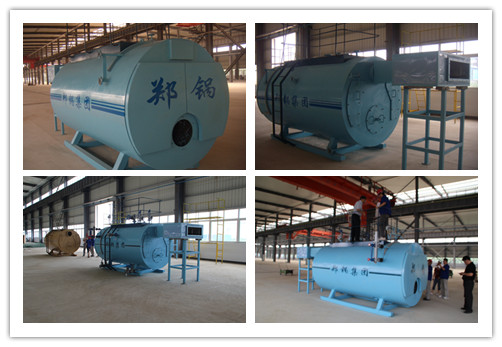 Natural gas steam boiler