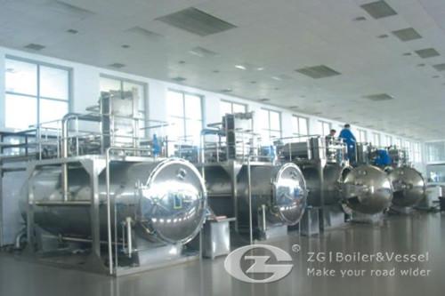 Use of steam boiler in food industry