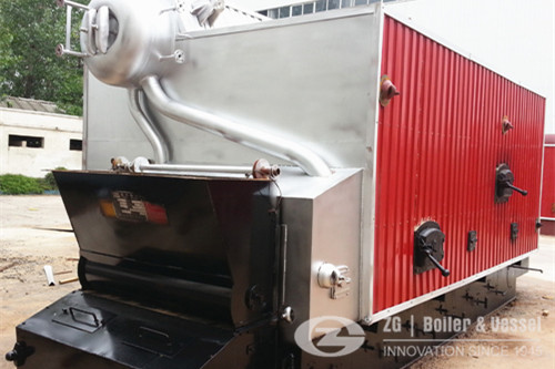 Steam boiler operation in animal feed plant image