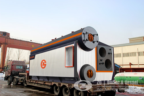 10 ton diesel fired boiler for paper making in paper industry image