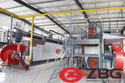 3MWt natural gas boiler to heat the building image