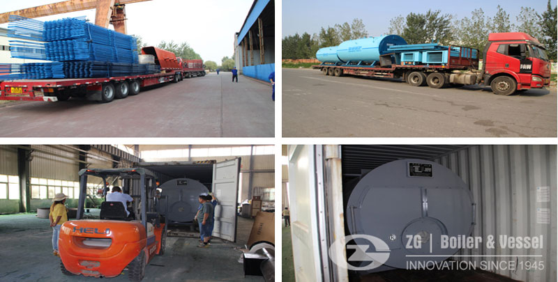 Industrial Steam Boiler Packaging & Delivery